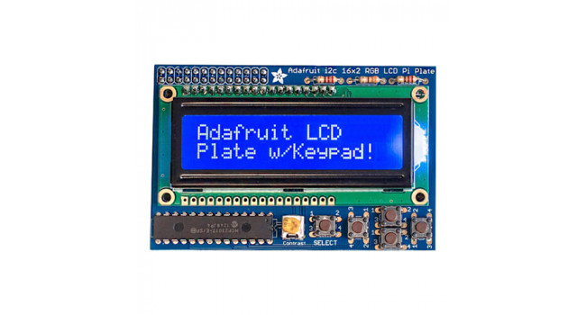 Adafruit Blue & White 16x2 LCD + Keypad Kit For Raspberry Pi
