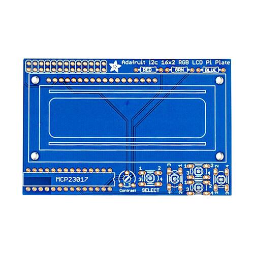 Adafruit Blue & White 16x2 LCD + Keypad Kit For Raspberry Pi