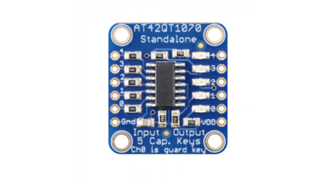 Capacitive Touch Sensor Breakout - 5 Pad + LED