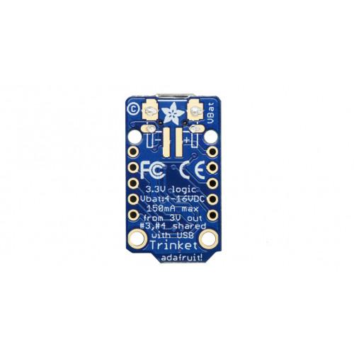 Trinket - Mini Microcontroller - 3 3V Logic - MicroUSB