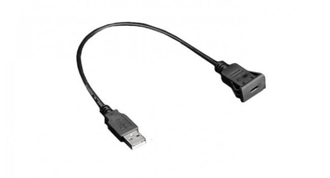 USB Type C Panel Mount + 30cm Cable