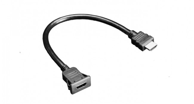 Snap-In Panel Mount HDMI Cable - 30cm Cable