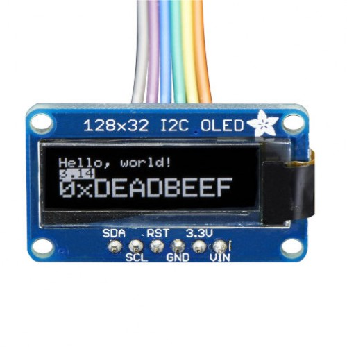 Adafruit OLED Mono 128X32 White - I2C