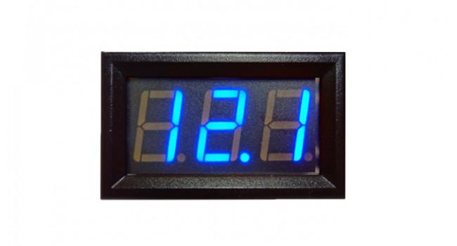 Panel Mount Volt Meter Max 4.5-30V - Blue