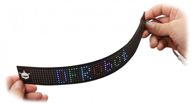 Flexible RGB Matrix Display 7x71