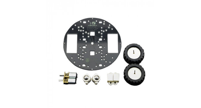 Robot Chassis Round + 2 Wheels & Motor