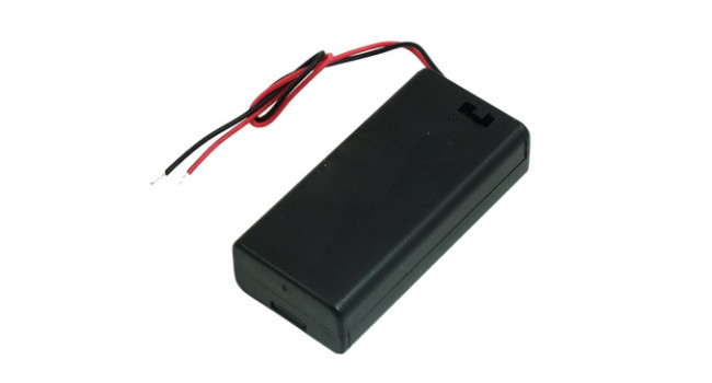 Battery Holder 14500 x 2 - Switch