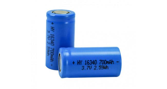 16340 Battery 700mAh Li-ion 3.7V