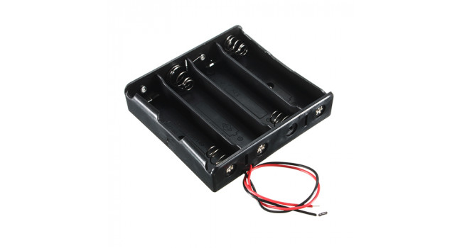 18650 Battery Holder - Wire - 4 Cell