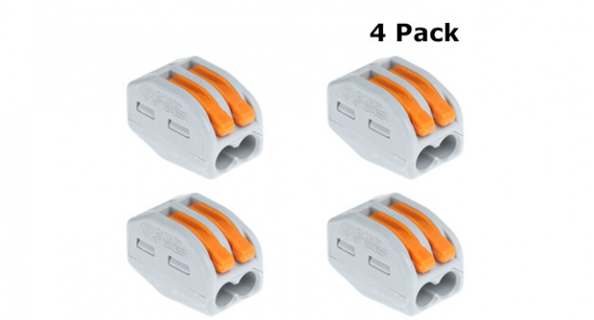 Connector Type 222 - 2 Pin (4 Pack)