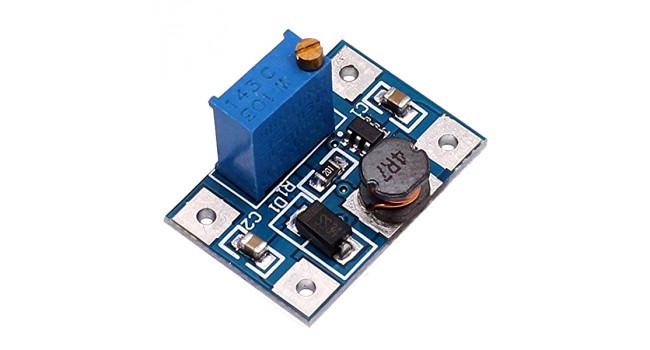 Boost Voltage Regulator, Vin 2-24V, Vout 2-28V 2A Variable