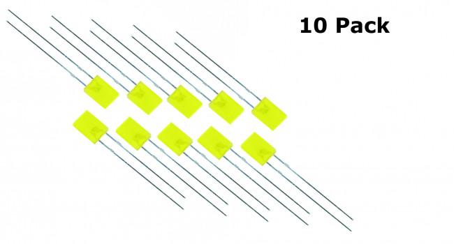 Rectangular LED Yellow 2 X 5 X 7MM (10 Pack)