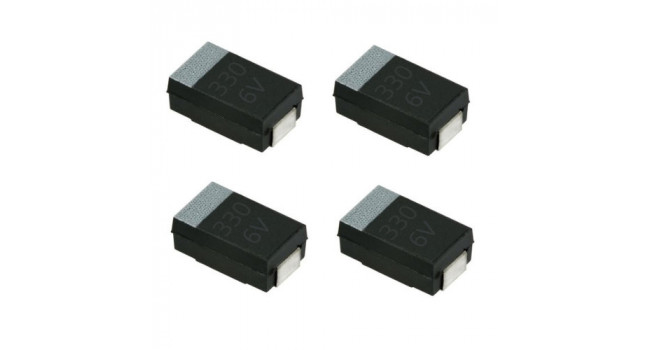 Capacitor SMD 220uF Tantulum 6.3V (4 Pack)