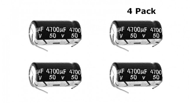 Capacitor 4700uF 50V - Axial (4 Pack)