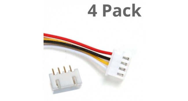 JST-XH 4 Pin Connector Male Female Pitch 2.5mm  (4 pack)
