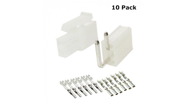 Molex Connector PCB 2 Pin (10 Pack)