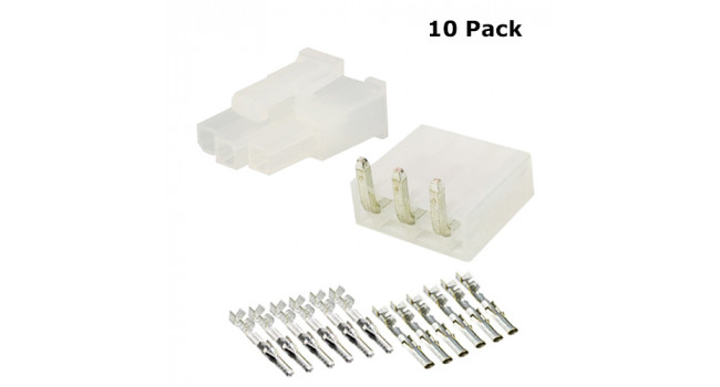 Molex Connector PCB 3 Pin (10 Pack)