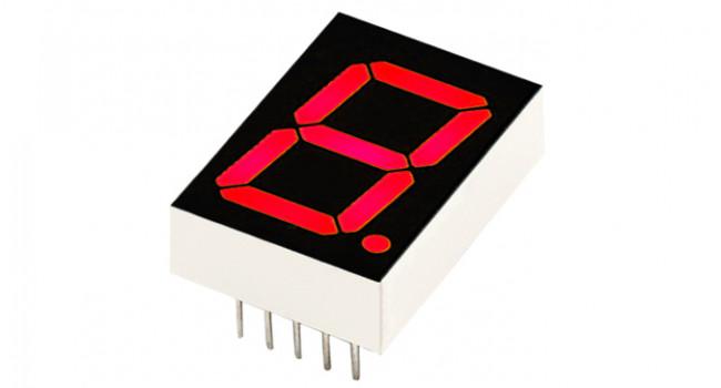 7 Segment Display - Red 1.5 inch Common Cathode