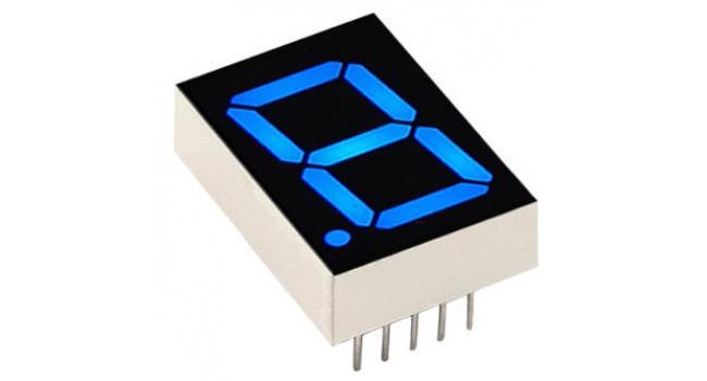 """7 Segment Display 0.56"""" Com Cathode - Blue"""