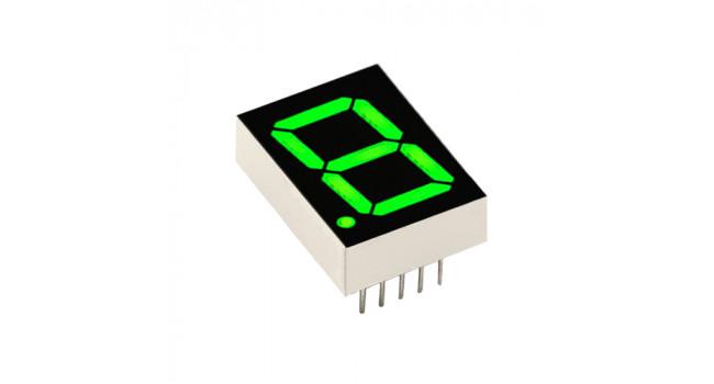 """7 Segment Display 0.56"""" Common Cathode - Green"""