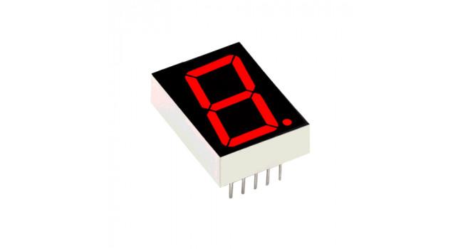 """7 Segment Display 0.56"""" Common Cathode - Red"""