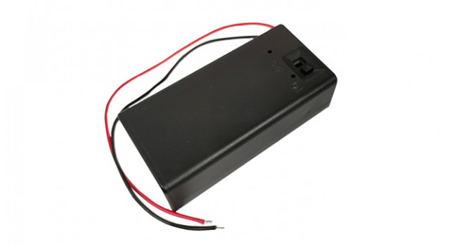 9V Battery Holder + Switch + Wire