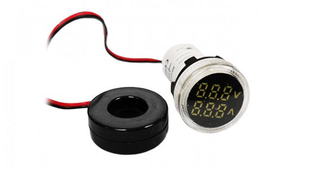 Dual Volt & Current Meter 500V 100A - White
