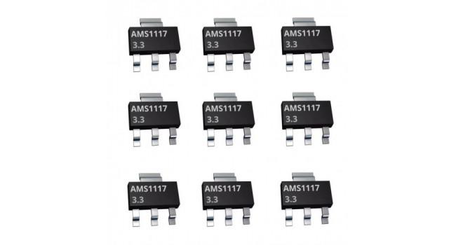 AMS1117 Voltage Regulator 3.3V SMD (10 Pack)