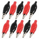 Alligator clips red and black ( Pack of 10 )