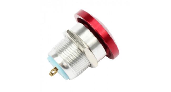 Red Aluminium Push to Make 16mm