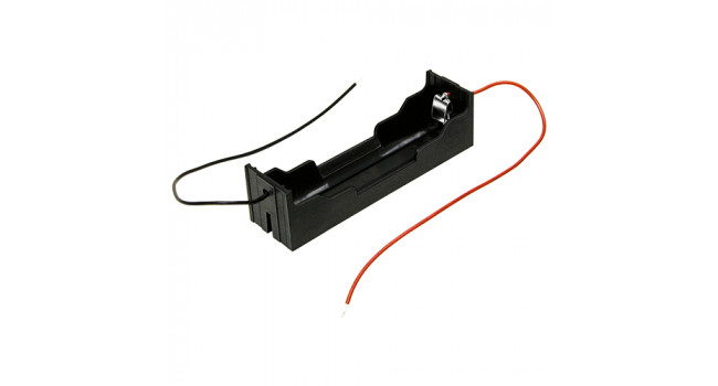 BATT 18650 Holder + Wire (Single)