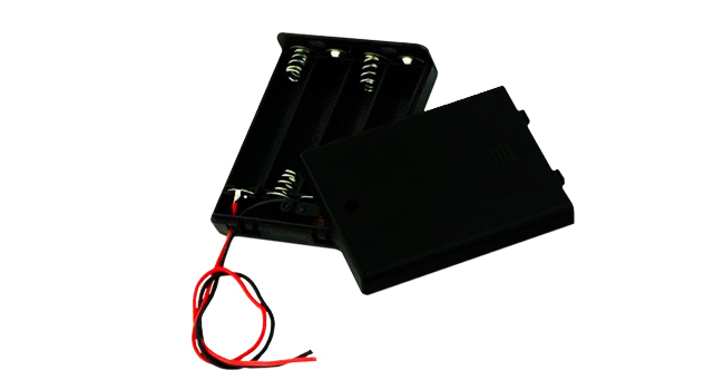 Battery Holder 4xAAA + Switch