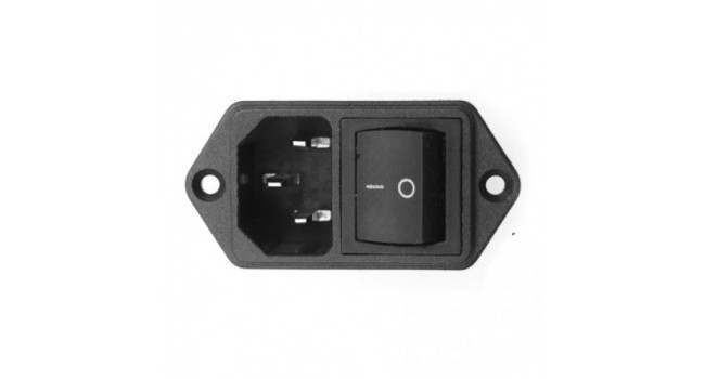 C14 AC Power Connector + Switch