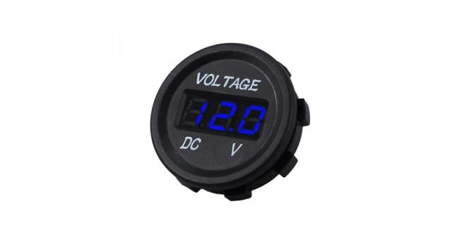 Car Volt Meter 3-30V - Blue