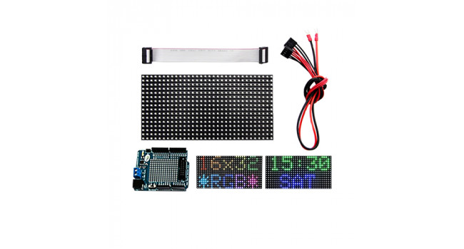 16X32 RGB LED Matrix + Arduino Driver