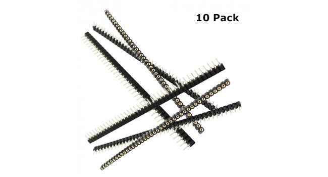 Header Pin 40 Pin Round (10 Pack)