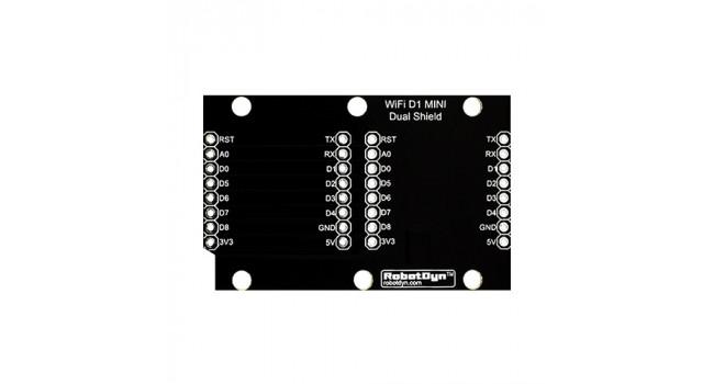 Mini D1 Dual Shield + Connectors