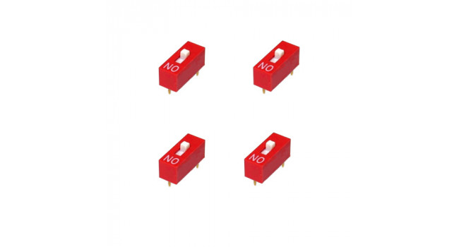 DIP Switch 1 Pole TH  ( 4 Pack)