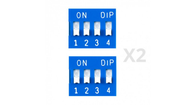 Dip Switch 4 Way (2 Pack)