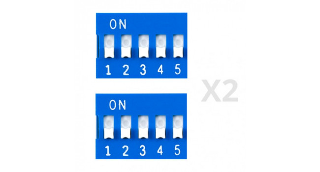 Dip Switch 5 Way (2 Pack)