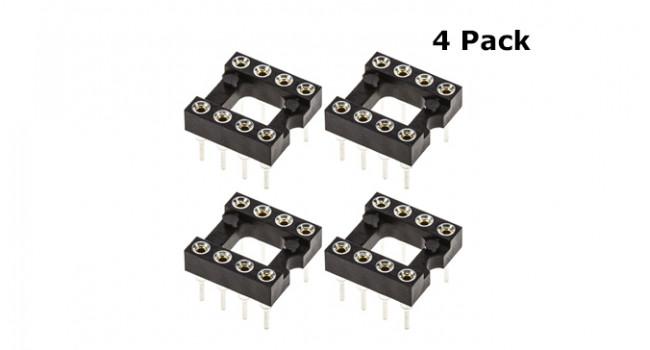 Premium 8 Pin IC Socket (4 Pack)