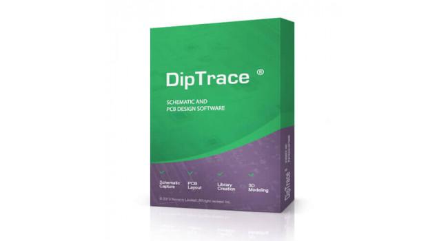 DipTrace Standard, 1000 pins, 4 signal layers