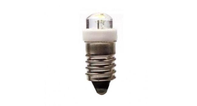 E10 LED Lamp, Threaded, 6V, 0.5W