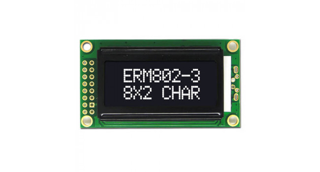 Character Display - LCD 2X8 - 3.3V White-Black