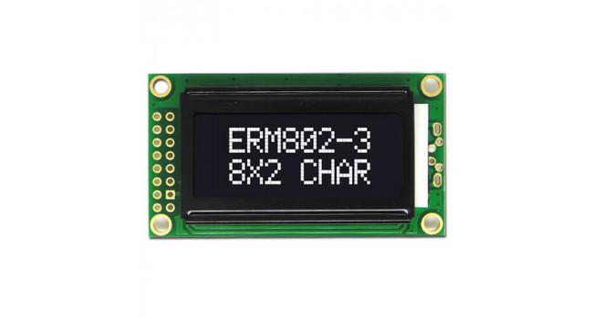 Character Display - LCD 2X8 - 5V White-Black