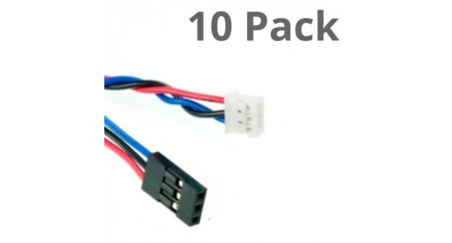 JST to Du Pont (SIL) 3 Way Cable (10 Pack)