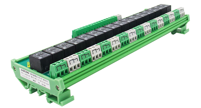 Din Rail 16 Channel Relay 24V
