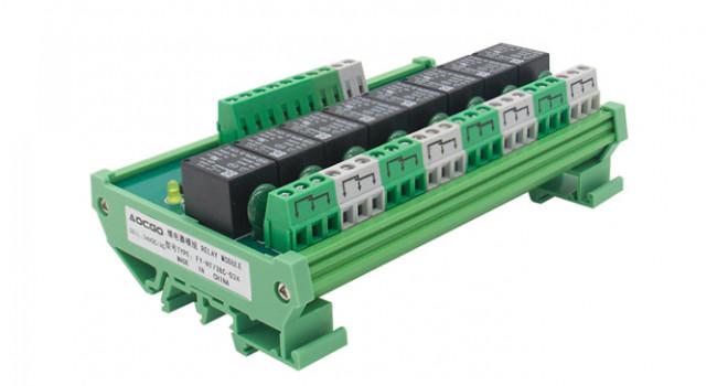 Din Rail 8 Relay 24V Coil