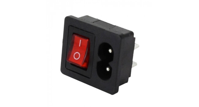 C8 AC Power Connector + Switch - Female