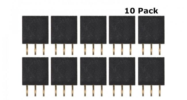 Header Female 3 Pin 2.54mm (10 Pack)